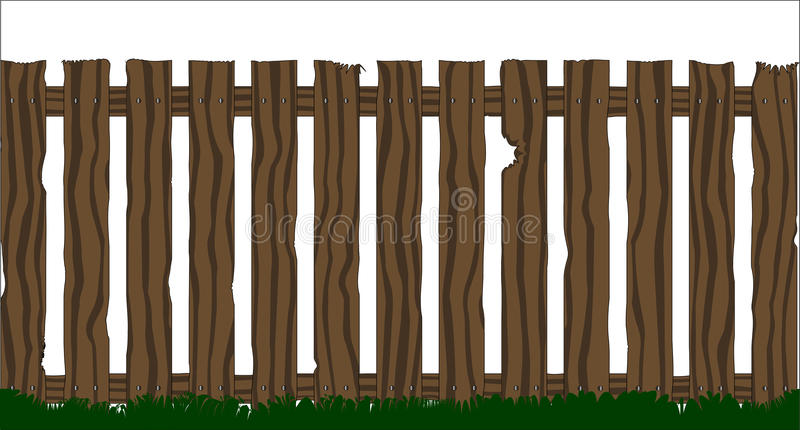 Cerca de madera libre illustration