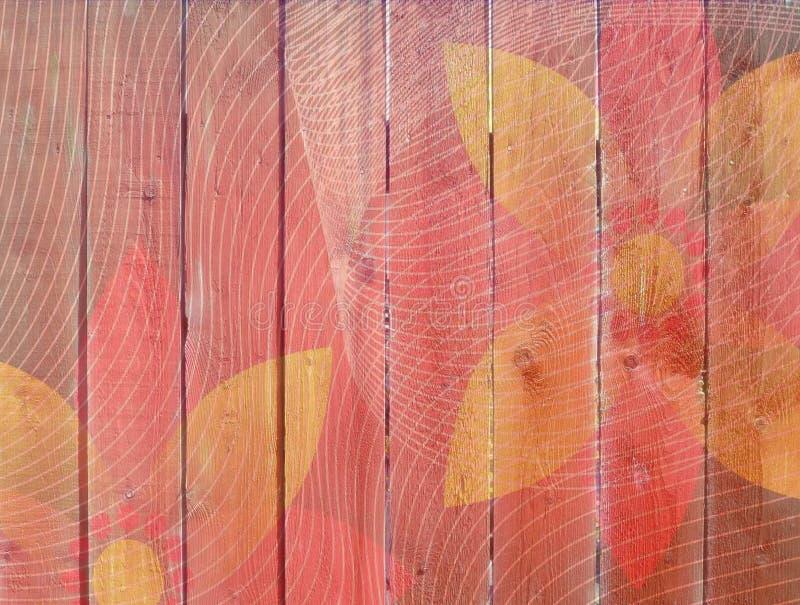 Cerca de madera con el estampado de plores fotos de archivo libres de regalías