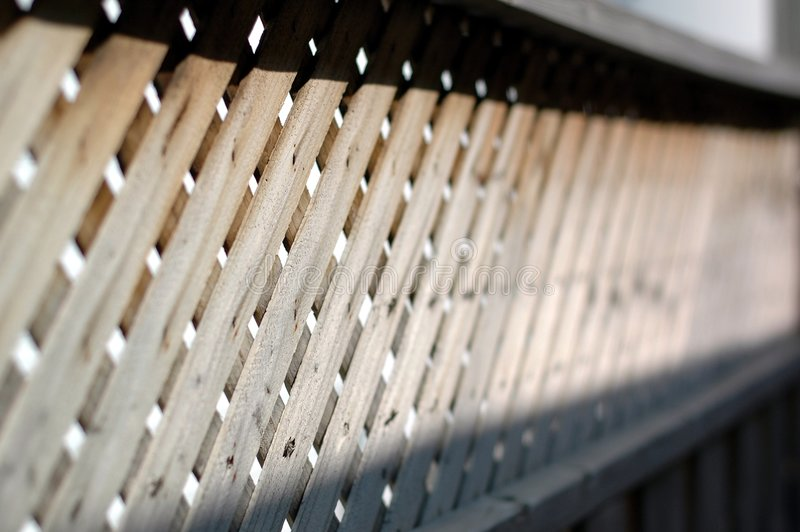 Cerca de madera de la porción foto de archivo