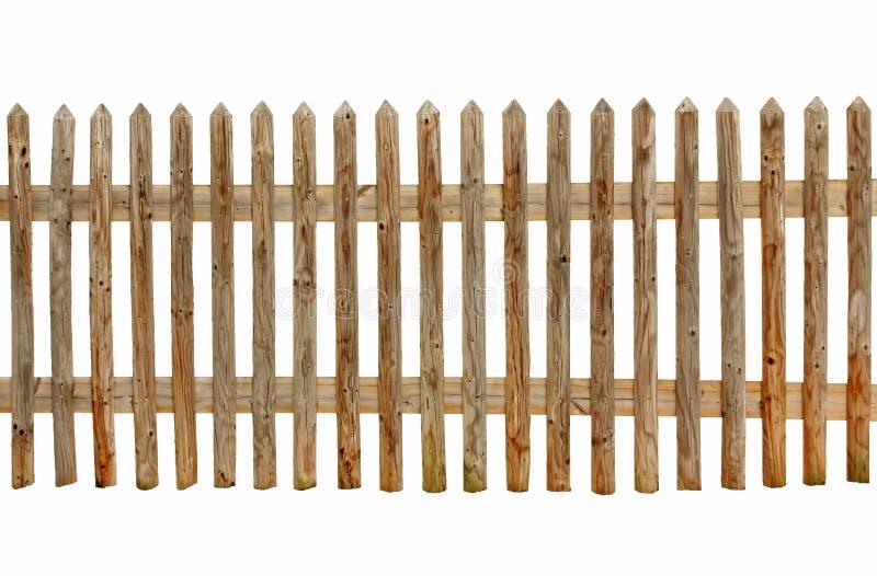 Cerca de madera en el fondo blanco foto de archivo