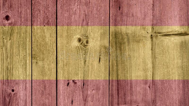 Cerca de madera de la bandera de España imagen de archivo