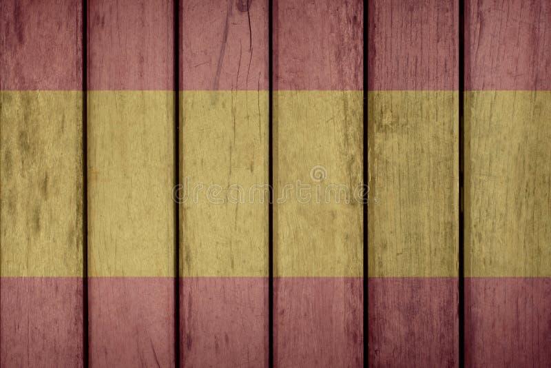 Cerca de madera de la bandera de España fotografía de archivo