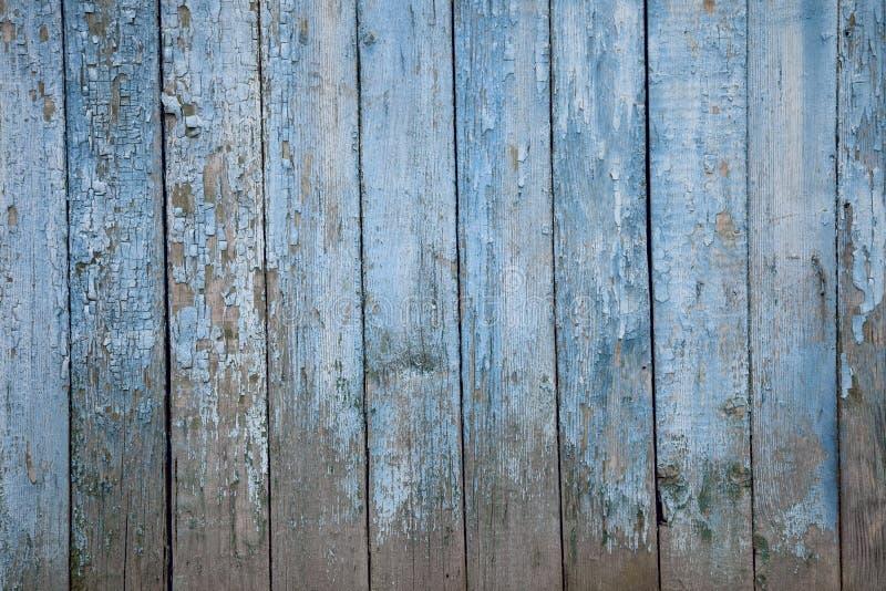 Cerca de madera pintada vieja, resistida naturalmente fotos de archivo