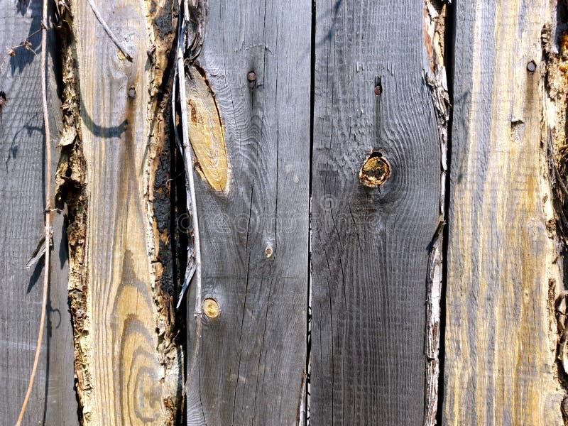 Cerca de madera sin pintar vieja Vintage ruso Viejos tableros hermosos Decoración para la elegancia lamentable del estilo del dis foto de archivo libre de regalías