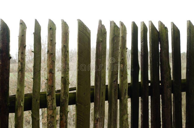 Cerca de madera vieja imagen de archivo libre de regalías
