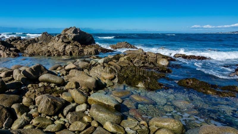 Cerca de Pebble Beach, Del Monte Forest, CA imagen de archivo libre de regalías