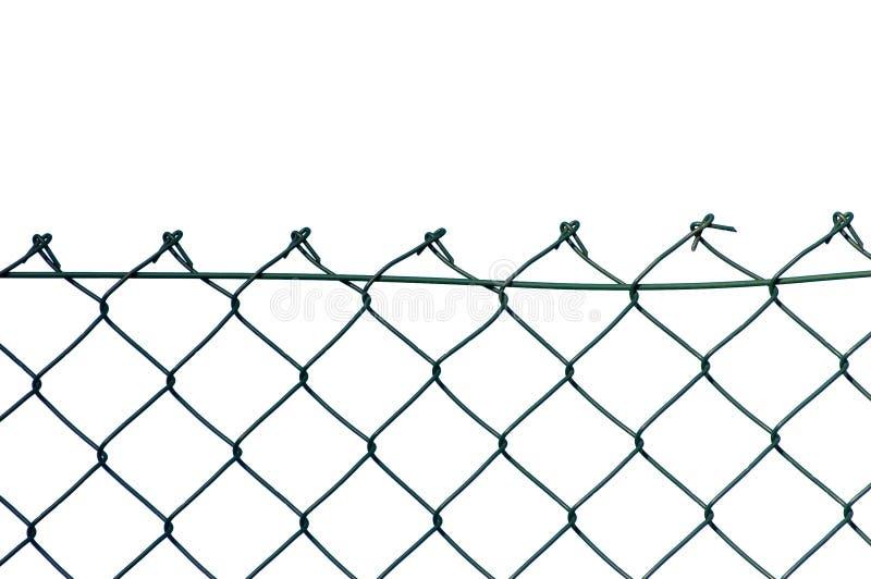 Cerca de segurança nova do fio isolada foto de stock
