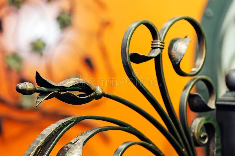 Cerca del hierro labrado foto de archivo libre de regalías