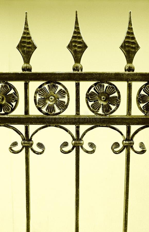 Cerca del hierro labrado fotos de archivo