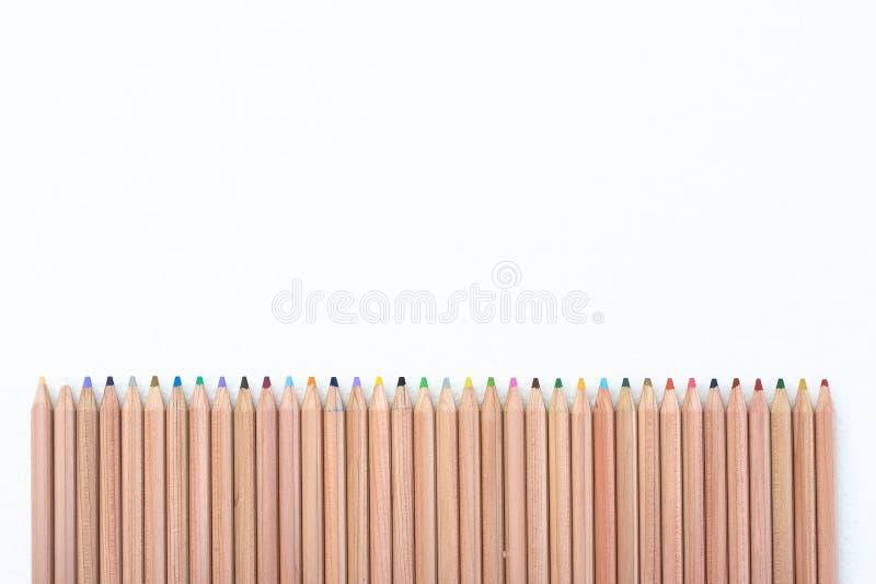 Cerca del lápiz del color foto de archivo