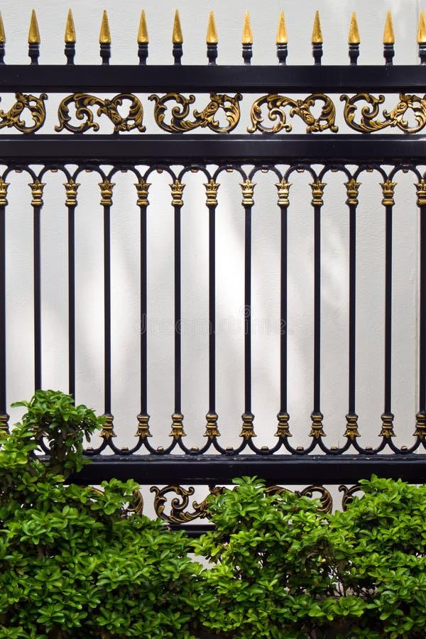 Cerca del metal de las aleaciones y plantas ornamentales imagen de archivo