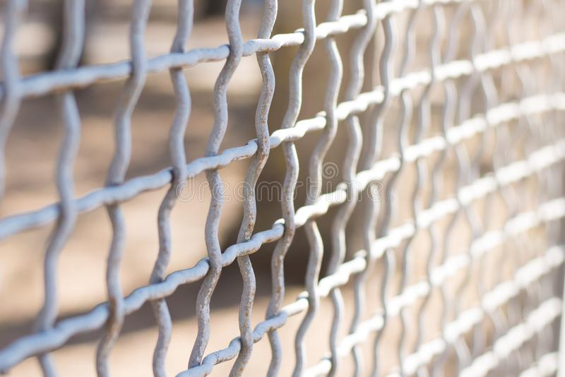 Cerca do elo de corrente do metal em um close-up do fundo fotos de stock royalty free
