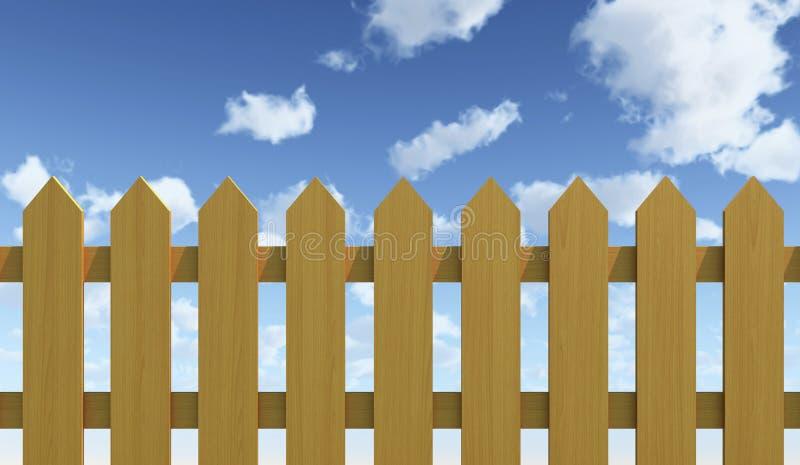 Cerca e céu azul ilustração stock