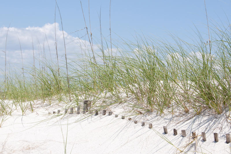 Cerca enterrada de la duna de arena fotos de archivo