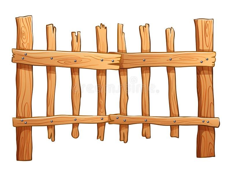 Cerca feita da madeira ilustração royalty free