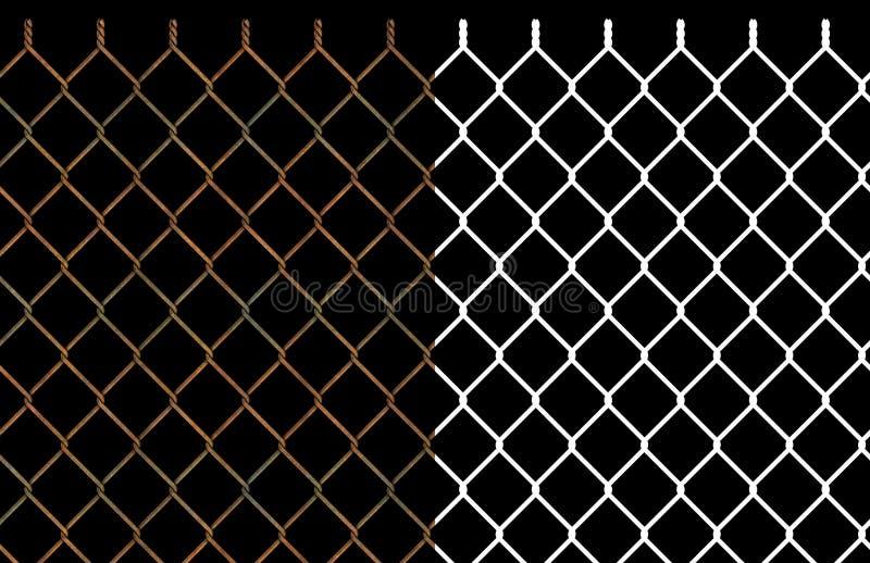 Cerca oxidada da ligação chain do fio ilustração royalty free