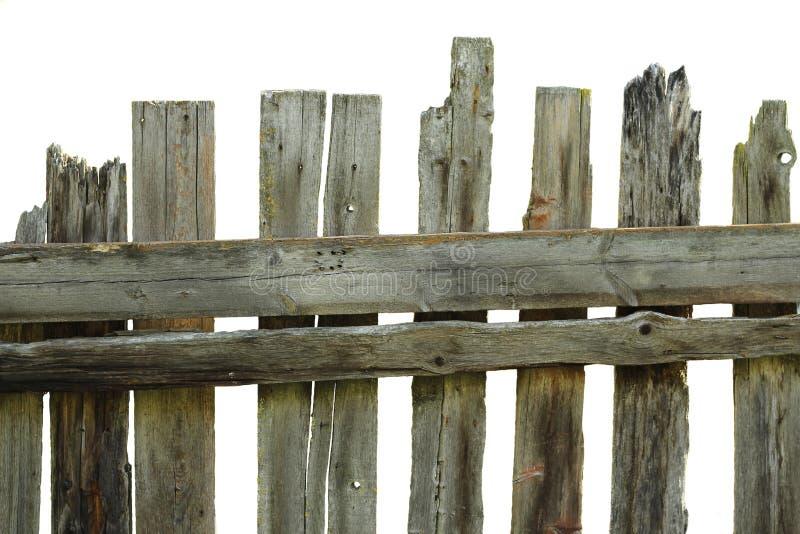 Cerca putrefacta vieja de los tableros del pino fotografía de archivo
