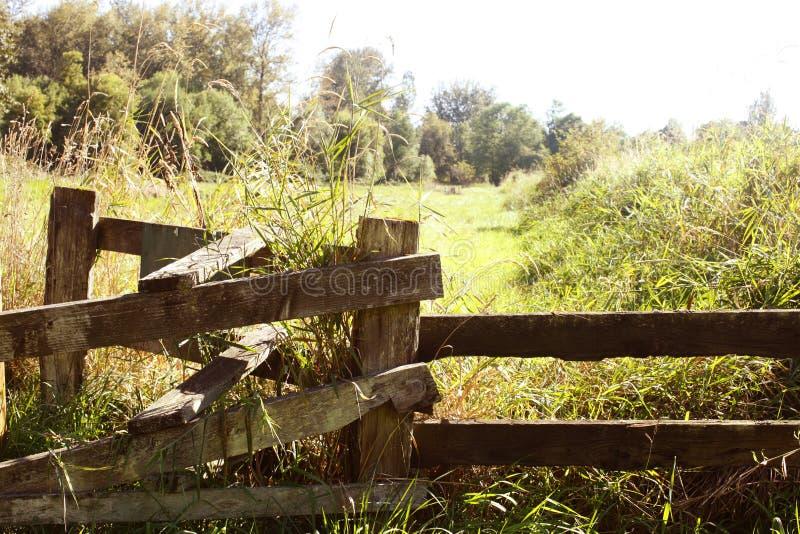 Cerca velha do rancho imagens de stock