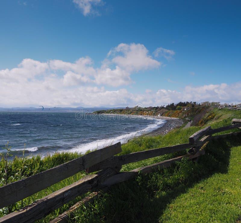 Cerca Victoria British Columbia Canada de la costa fotografía de archivo libre de regalías