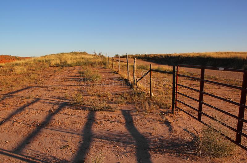 Cerca vieja del ganado en Tejas foto de archivo libre de regalías