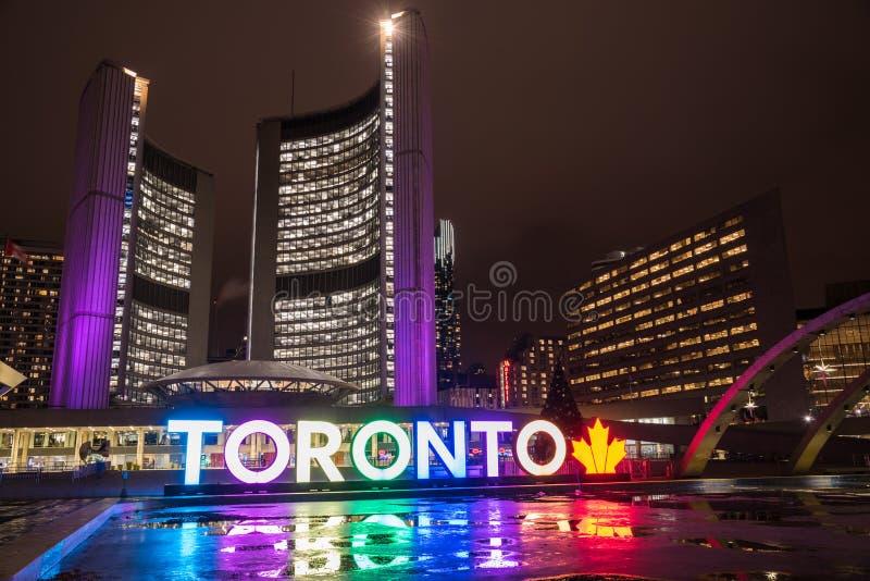 Cerca vista nuevo ayuntamiento Toronto imágenes de archivo libres de regalías