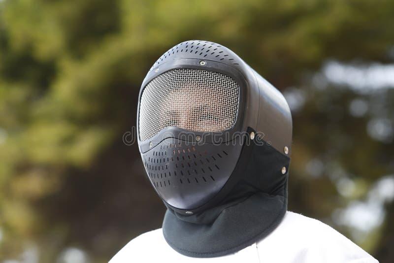 Cercado de día del mundo en detalle de la máscara de Mallorca foto de archivo