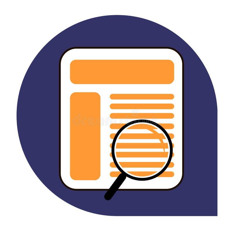 Cercando l'icona del browser o della pagina dell'insieme tricolore fotografia stock libera da diritti