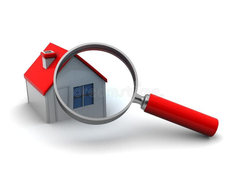 Cercando la casa illustrazione di stock
