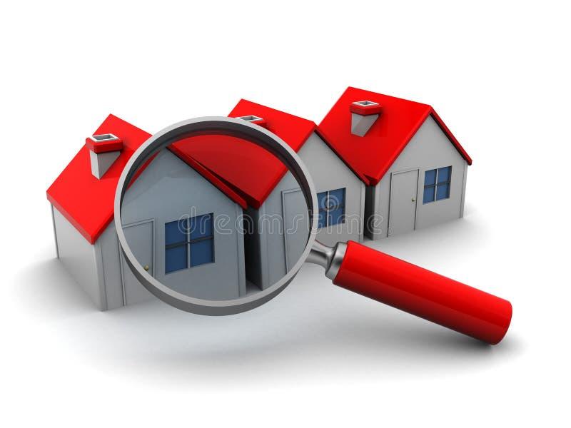 Cercando la casa illustrazione vettoriale