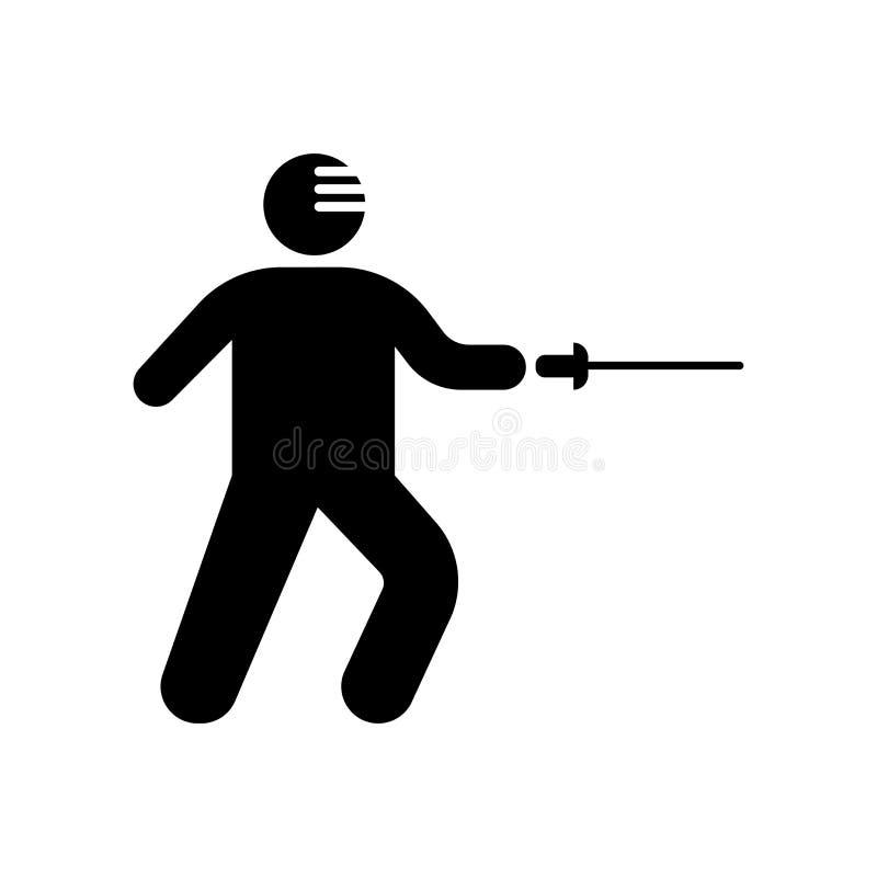 Cercando la muestra y el símbolo del vector del icono del ataque aislados en el CCB blanco stock de ilustración