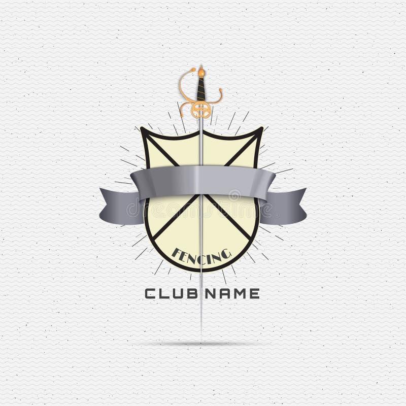 Cercando logotipos e etiquetas dos crachás para alguns use ilustração stock