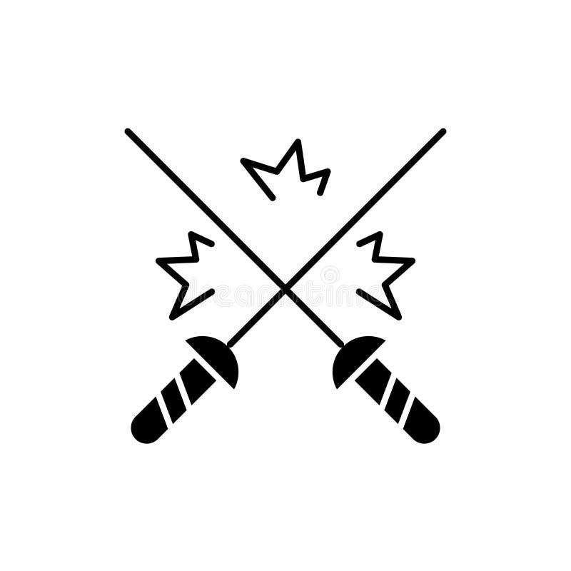 Cercando o ícone preto, sinal do vetor no fundo isolado Cercando o símbolo do conceito, ilustração ilustração stock