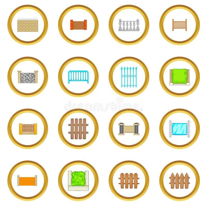 Cercando o círculo dos ícones dos módulos ilustração do vetor