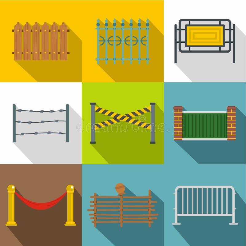 Cercando o grupo do ícone dos módulos, estilo liso ilustração do vetor