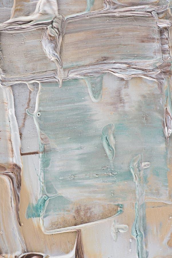 cercano para arriba de movimientos beige y azules claros del cepillo de libre illustration