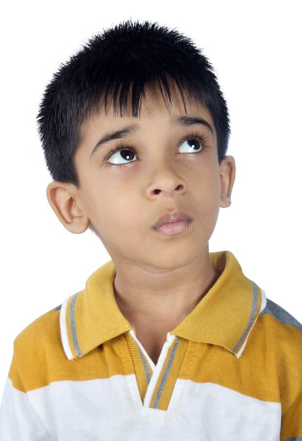 Cercare indiano depresso del ragazzo immagini stock libere da diritti
