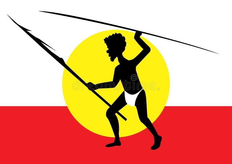 Cercare uomo aborigeno royalty illustrazione gratis