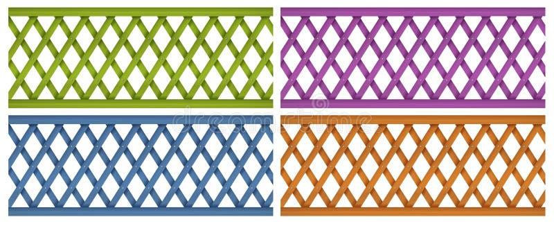 Cercas de madeira coloridas fotografia de stock imagem - Cercas de madera ...