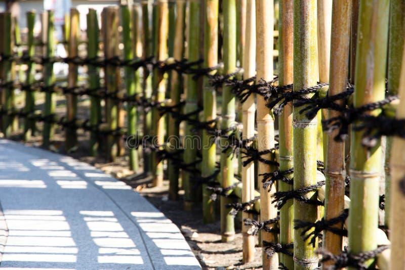 Cercas do bambu do estilo japonês imagem de stock royalty free