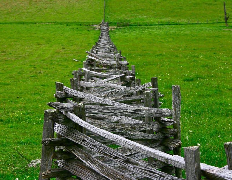 Cercas empilhadas do Rachar-Trilho em Virgínia imagem de stock royalty free