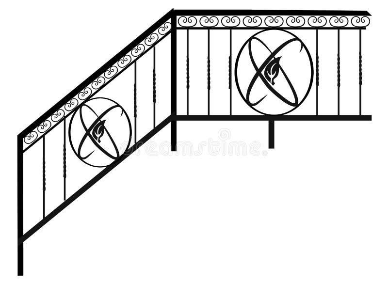 Cercas, verjas y rejillas Artículos y productos forjados para el diseño casero del interior y del paisaje ilustración del vector