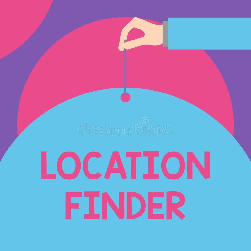 Cercatore di posizione del testo della scrittura Il concetto che significa un servizio ha caratterizzato per trovare l'indirizzo  illustrazione vettoriale