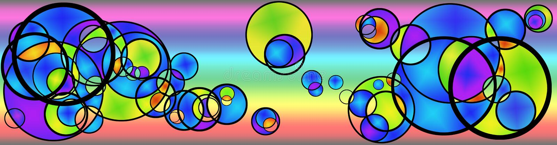 Cerchi illustrazione vettoriale