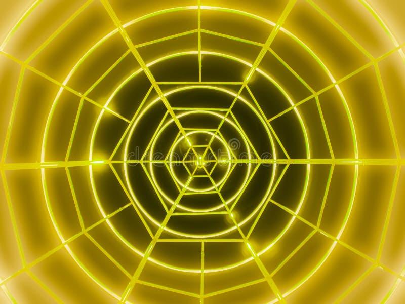 Cerchi al neon gialli fotografia stock