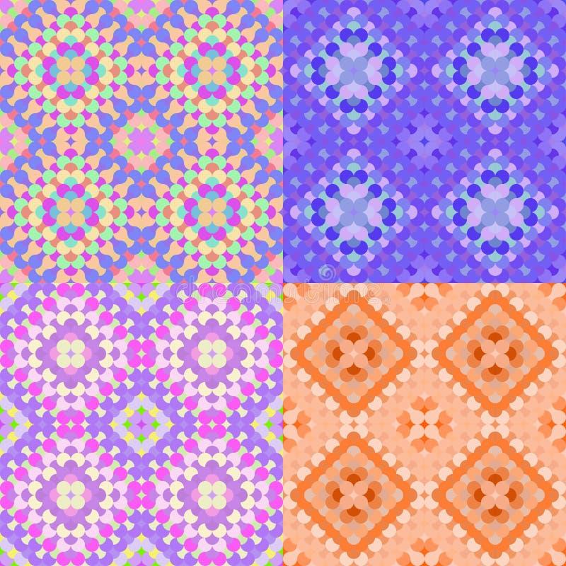 Cerchi arancio geometrici variopinti del modello senza cuciture Illu di vettore illustrazione di stock