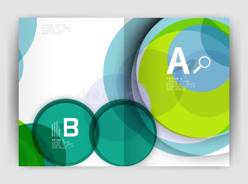 Cerchi astratti, coperture del rapporto annuale Modelli moderni dell'opuscolo di affari royalty illustrazione gratis