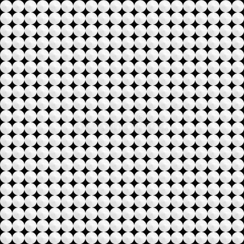 Cerchi bianchi su un fondo nero Cenni storici del tasto illustrazione vettoriale
