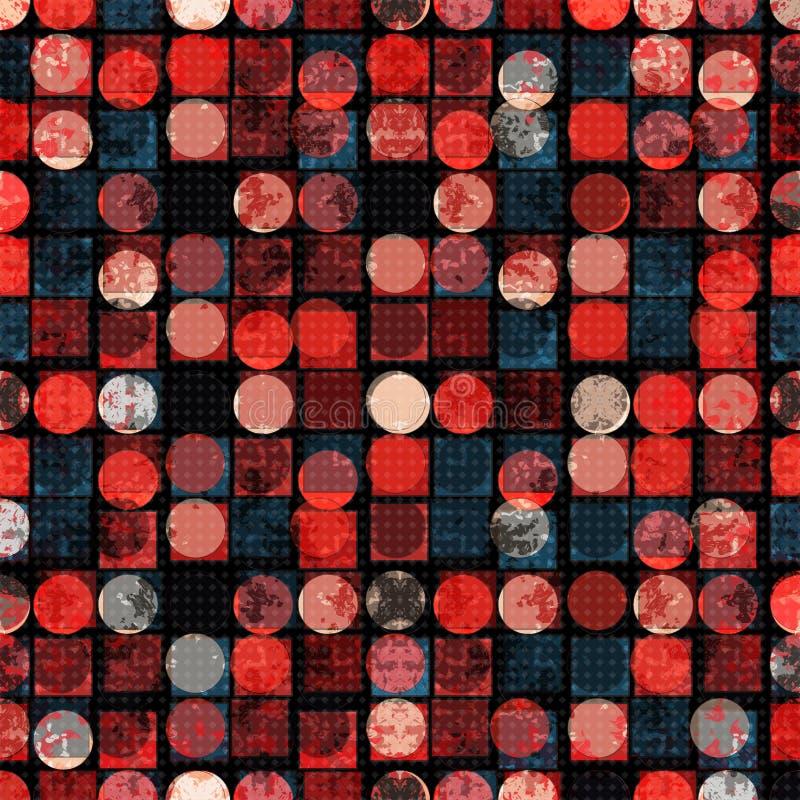 Cerchi colorati e poligoni di buio Geometrico astratto Illustrazione di vettore illustrazione di stock
