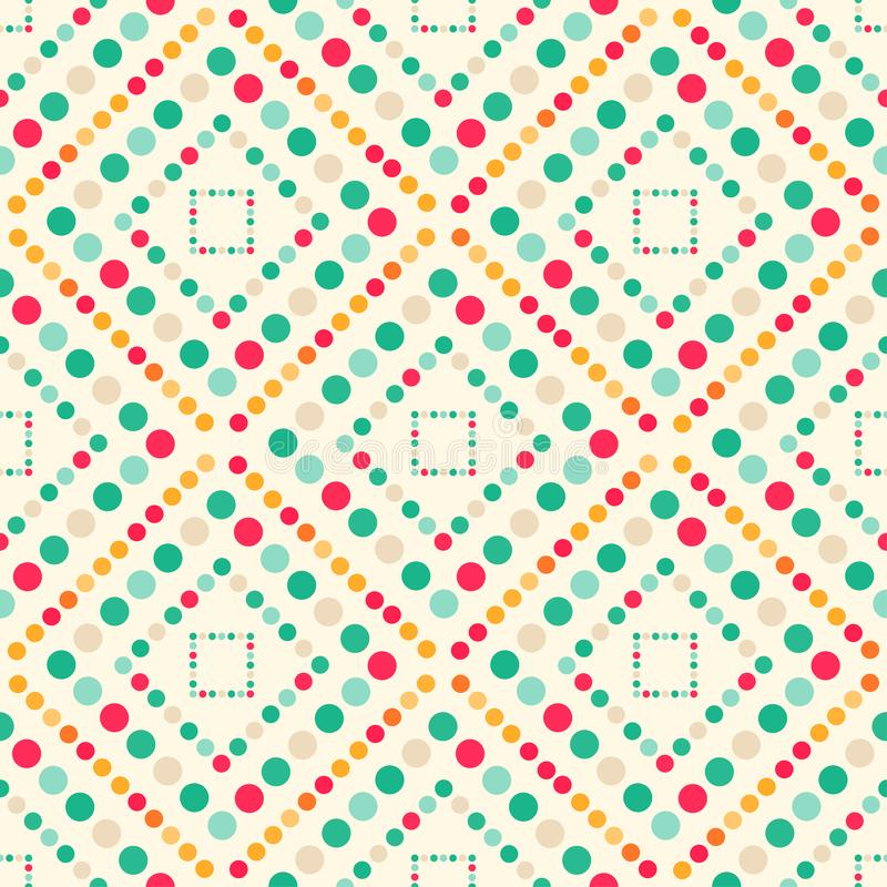 Cerchi colorati grandi e piccolo modello senza cuciture geometrico illustrazione di stock