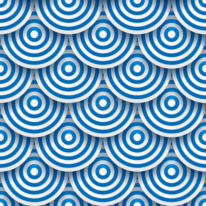 Cerchi con le ombre di goccia illustrazione di stock